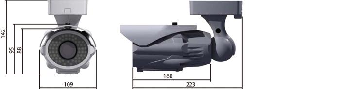 Camlux 700TVL (960H) CP-7054E/7154E-FVIR 2