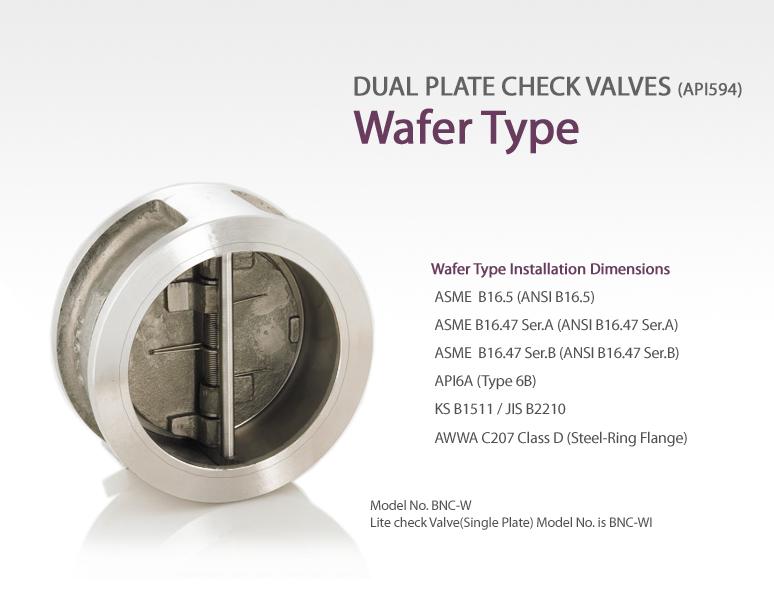 BAVCOS Dual Plate Check Valves