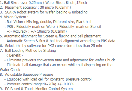 AP-Tech Wafer Level Ball Mount System WBS-1000