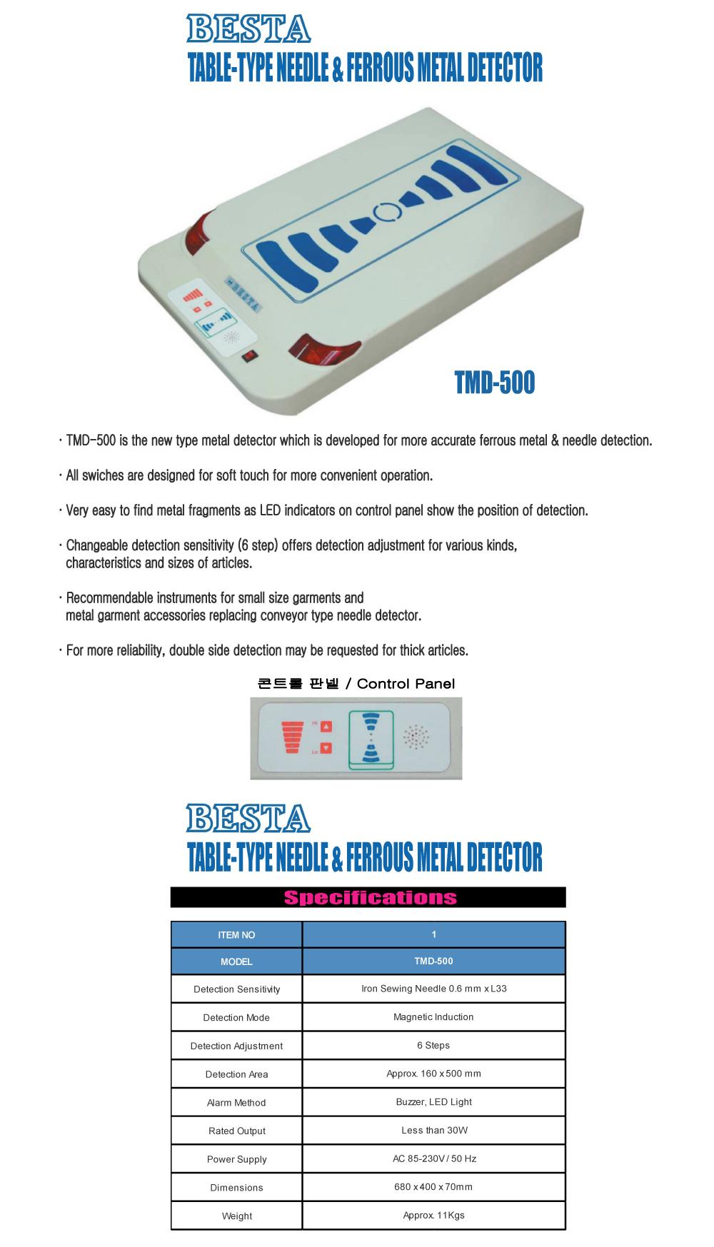 DAE KWANG ENGINEERING Table-Type Metal Detector TMD-500