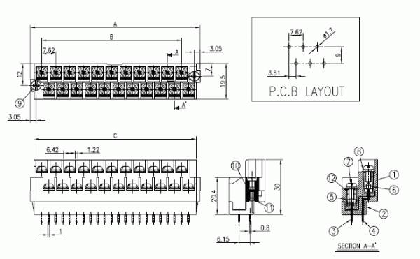 BEE RYONG Terminal_Block 762R 1