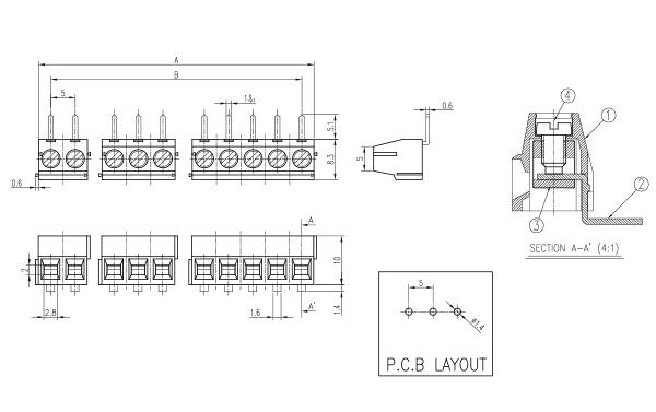 BEE RYONG Terminal_Blocks 5001L 1