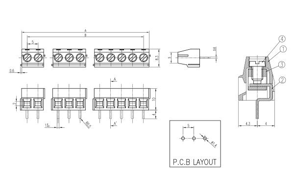 비룡전자 Terminal_Blocks 5001C 3
