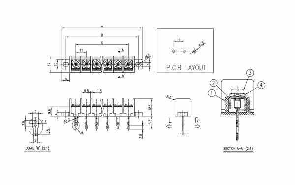 BEE RYONG Terminal_Blocks 1100DT(*L) 1