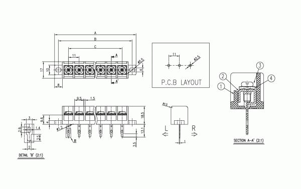 BEE RYONG Terminal_Blocks 1100DMT(*L) 1