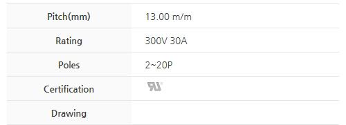 BEE RYONG Terminal_Blocks 1300DT(*L)