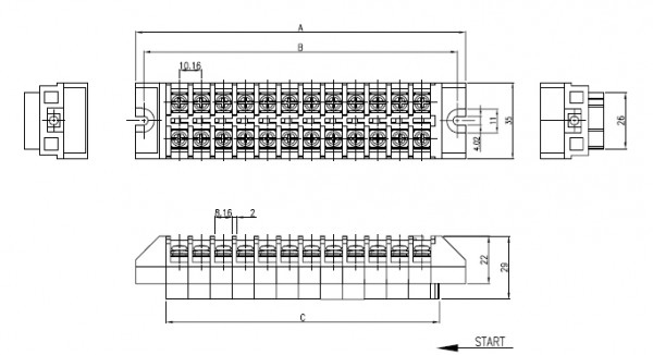 BEE RYONG Terminal_Blocks 10FT 1