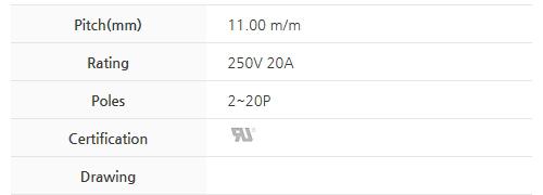 비룡전자 Terminal_Blocks 1100MT(*L) 2