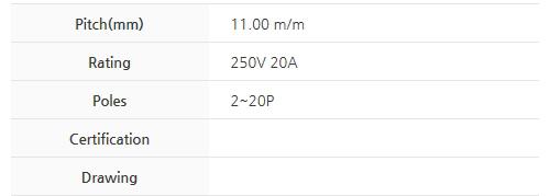 비룡전자 Terminal_Blocks 1100MK(*L) 2