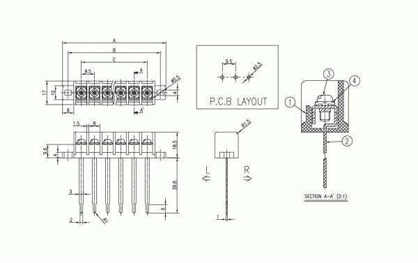 BEE RYONG Terminal_Blocks 950DMF(*L) 1