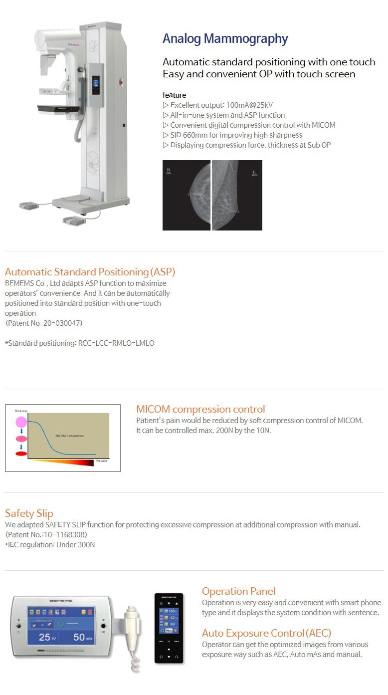 BEMEMS Analog Mammography Pinkview-AT
