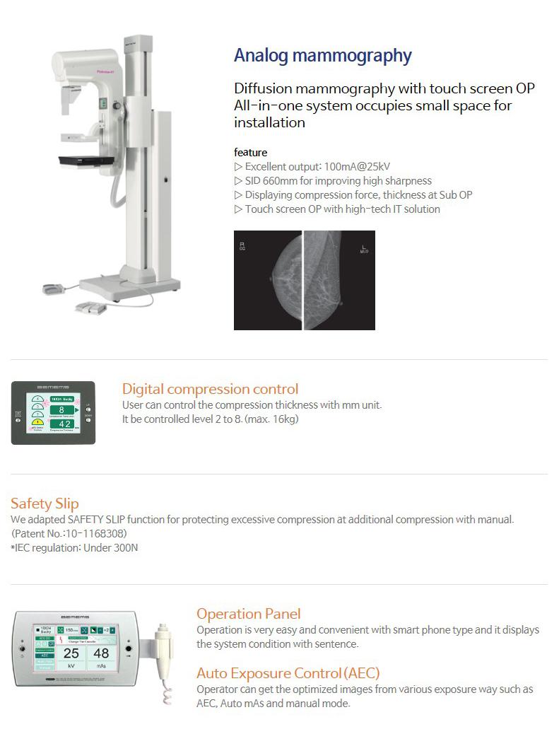 BEMEMS Analog mammography Pinkview-RT