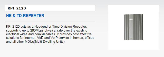 Kaicom HE & TD-Repeater KPI-2120