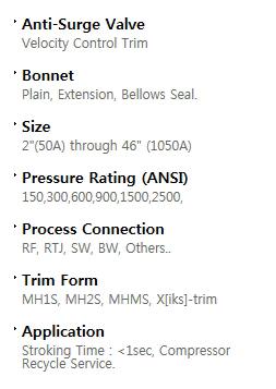 BFS Co., Ltd. Anti surge valve AG-Series 1