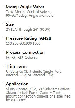 BFS Co., Ltd. Sweep angle valve TA-Series 1