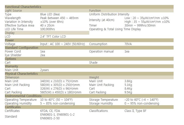 BISTOS Phototherrapy BT-400 1