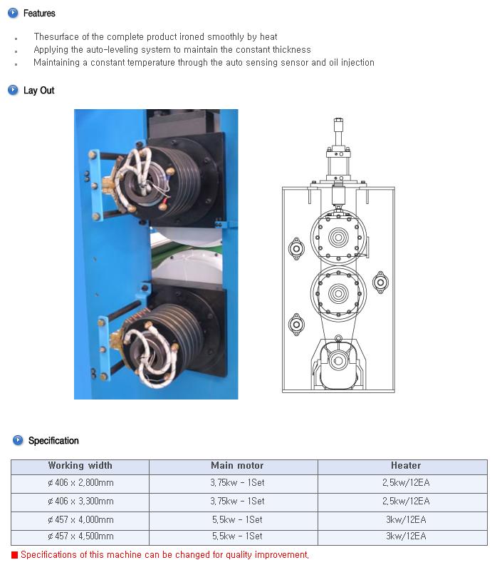 BOOKWANG TECH Heating Roller Machine BKHR-2800/4500