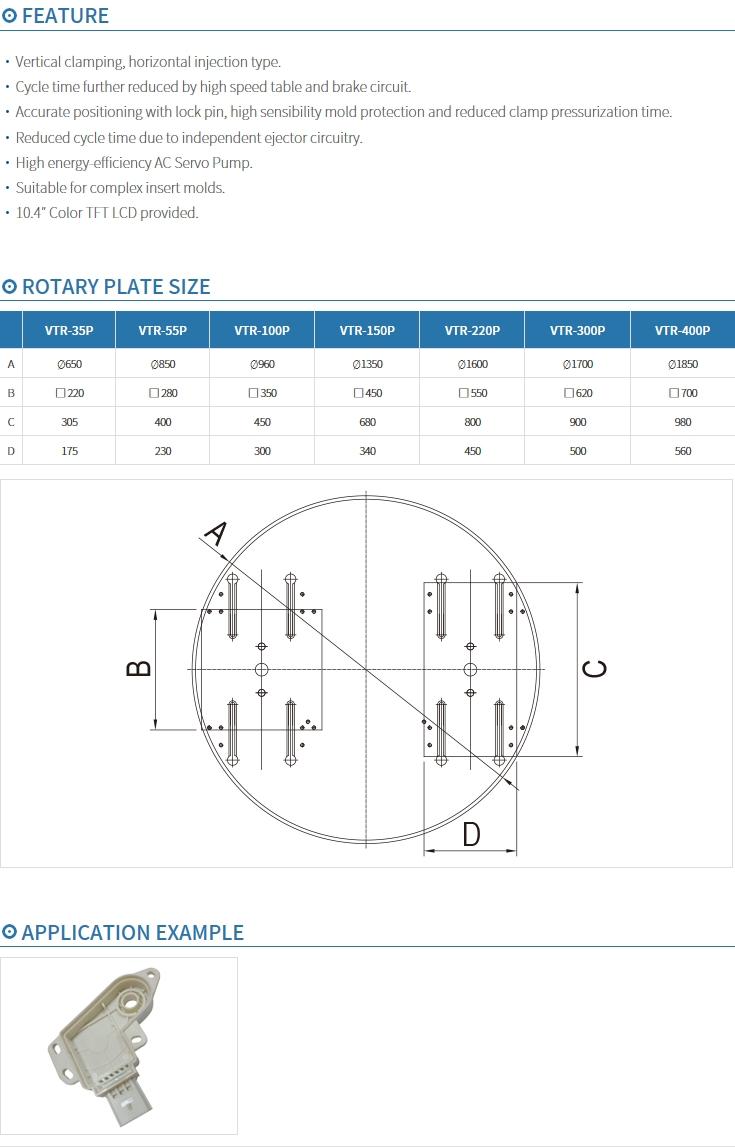 BMK Table Rotary Type VTR-P Series