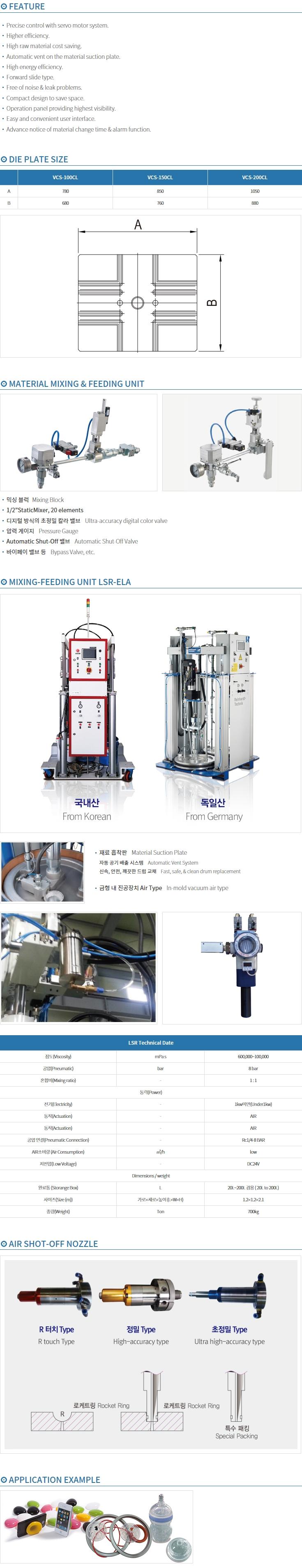 BMK For LSR Liquid Silicone SILICONERS Series