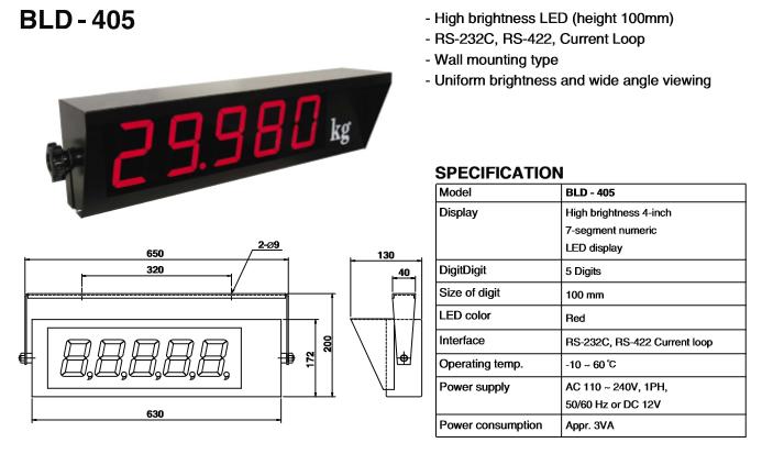 BONGSHIN LOADCELL Large Display Series BLD-405