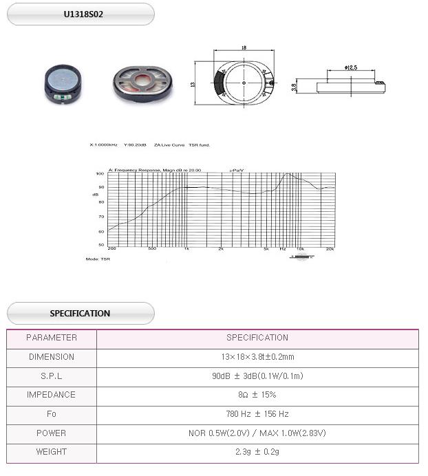 유니슨음향(주)  U1318S02