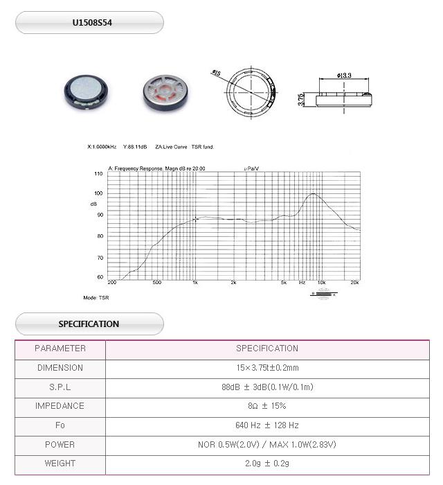 유니슨음향(주)  U1508S54