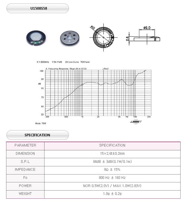 유니슨음향(주)  U1508S58