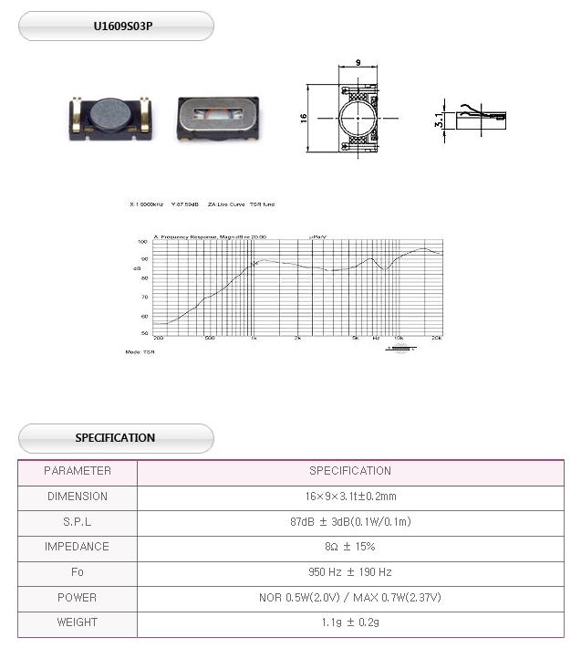 유니슨음향(주)  U1609S03P