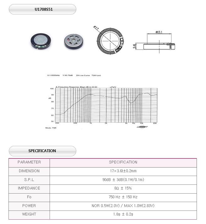 유니슨음향(주)  U1708S51