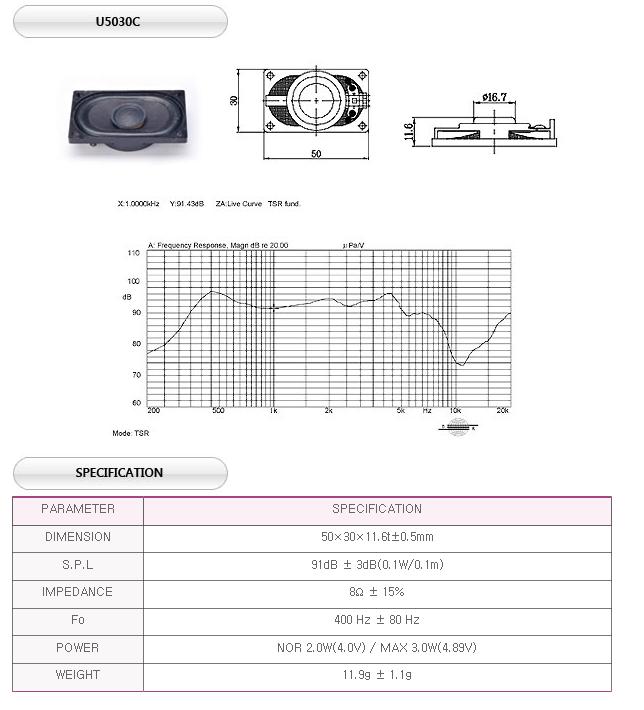 유니슨음향(주)  U5030C