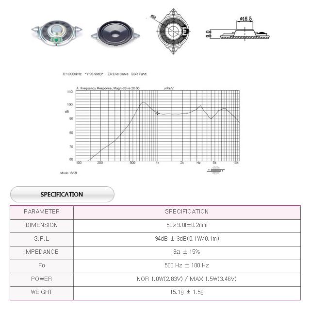유니슨음향(주)  U508B16