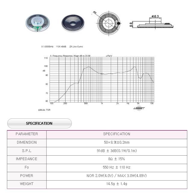 유니슨음향(주)  U508B25