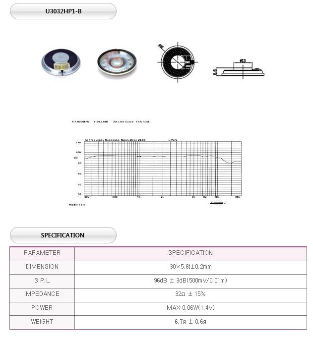 유니슨음향(주)  U3032HP1-B