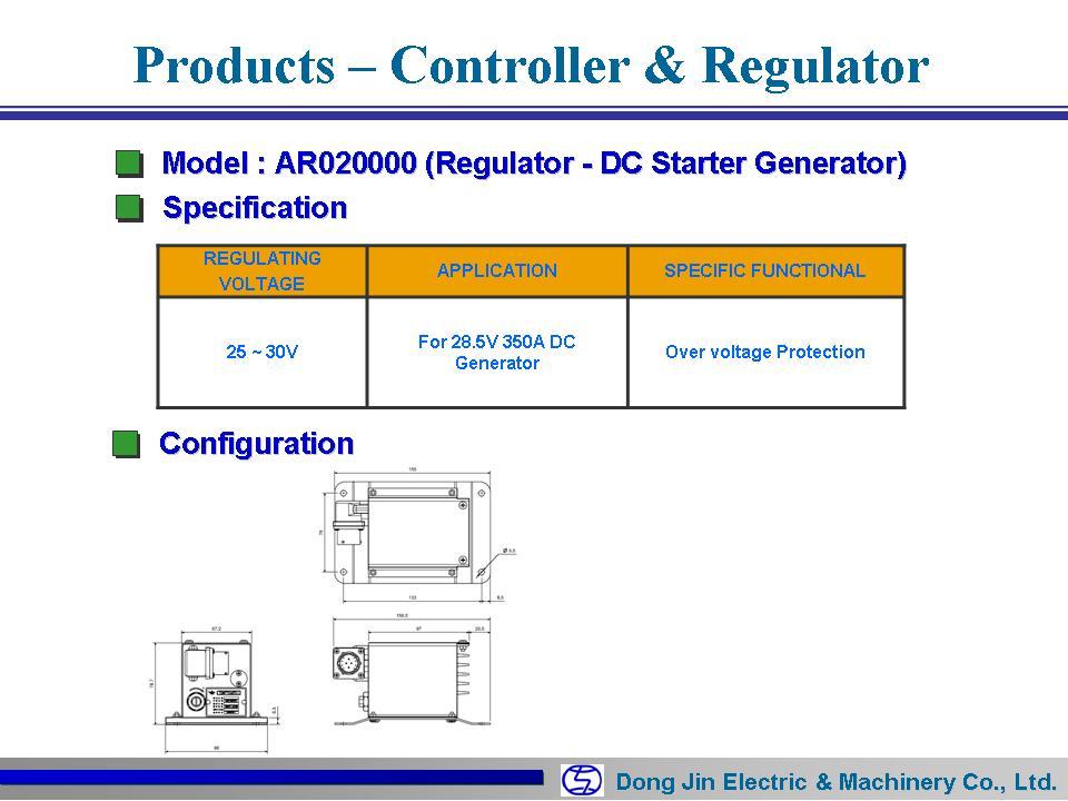 DongJin Electric&Machinery DC Regulator AR020000