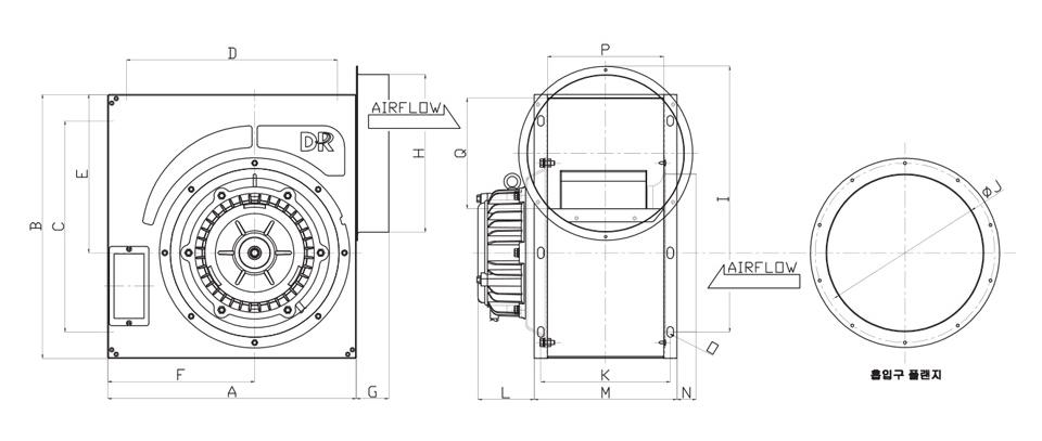 대륜산업 고정압 시로코팬 DR-FH/GH Series 1