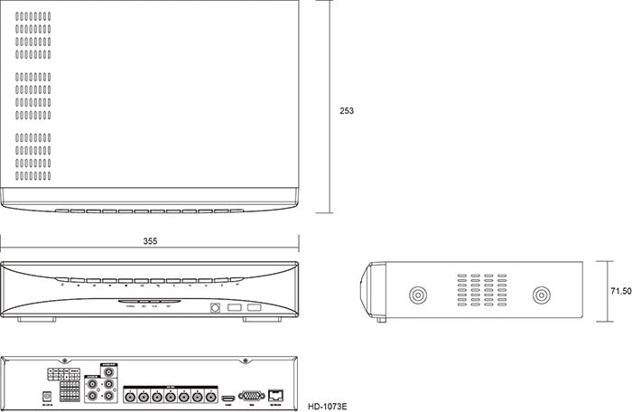 Camlux DVR HD-1073E 1