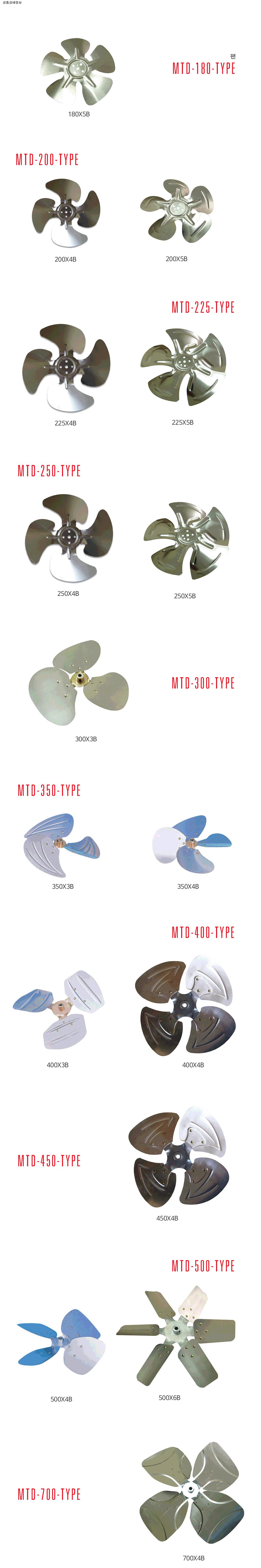 모타돌 팬 MTD-180 Type