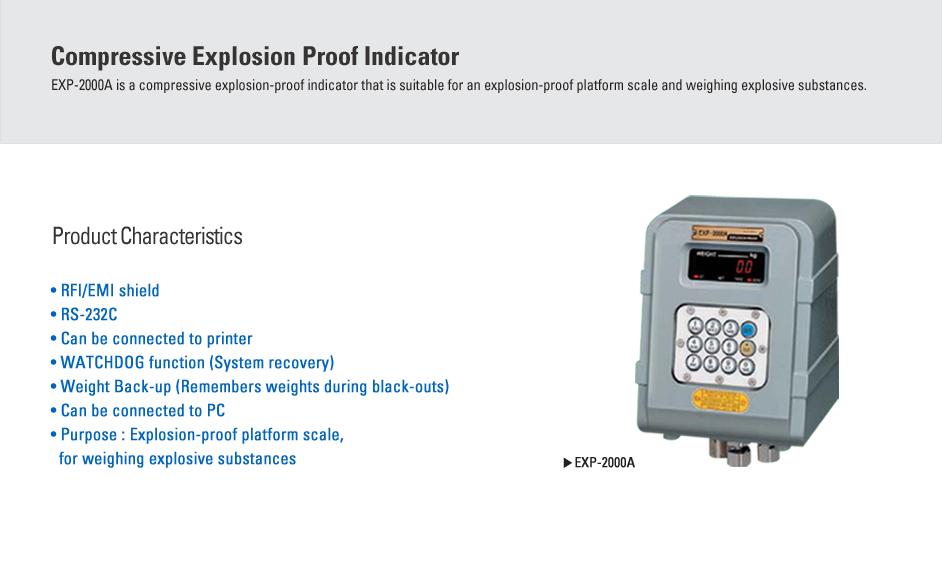 CAS Compressive Explosion Proof Indicator EXP-2000A