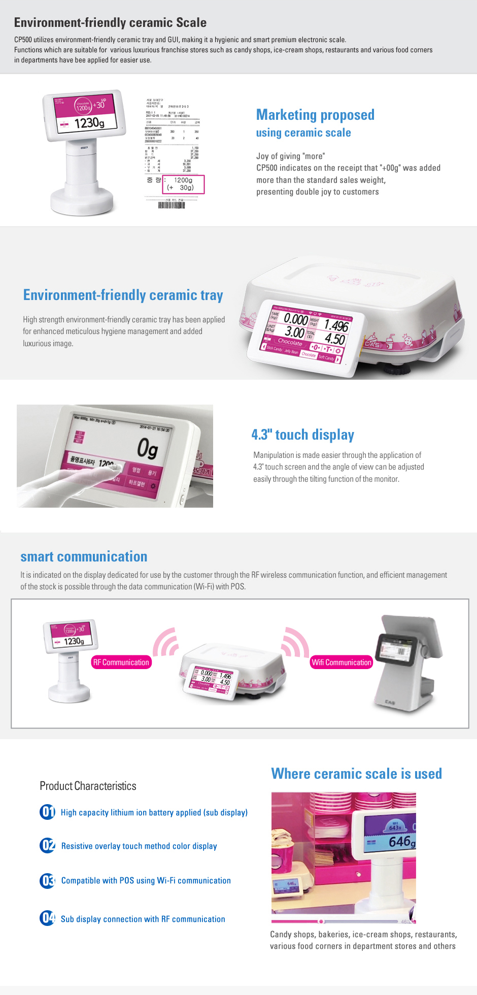 CAS Price Computing Scale (Environmental-Friendly Ceramic Scale) CP500
