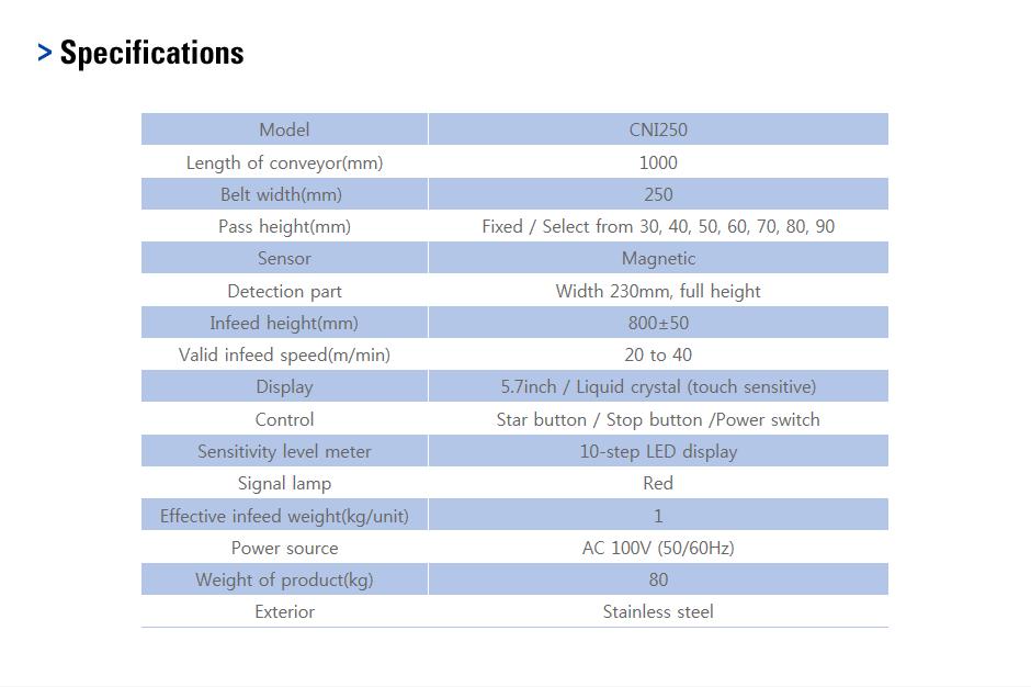 CAS Sealer/Metal Detector CNI250 1