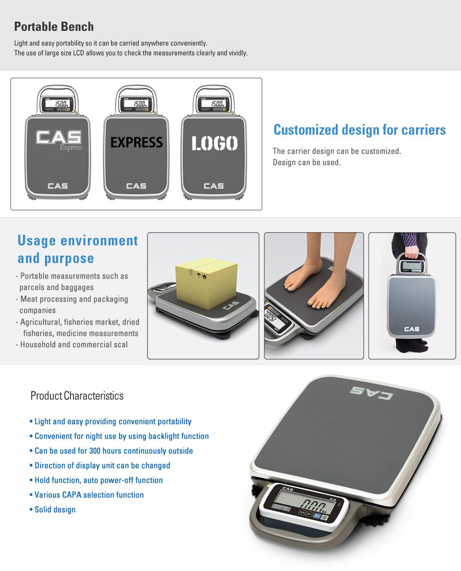 CAS Bench Scale (Portable) PB