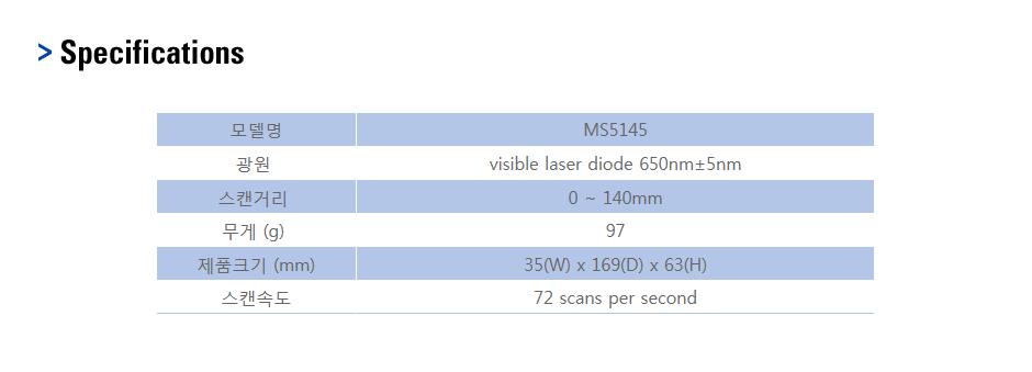 카스 핸드스캐너 MS5145 1