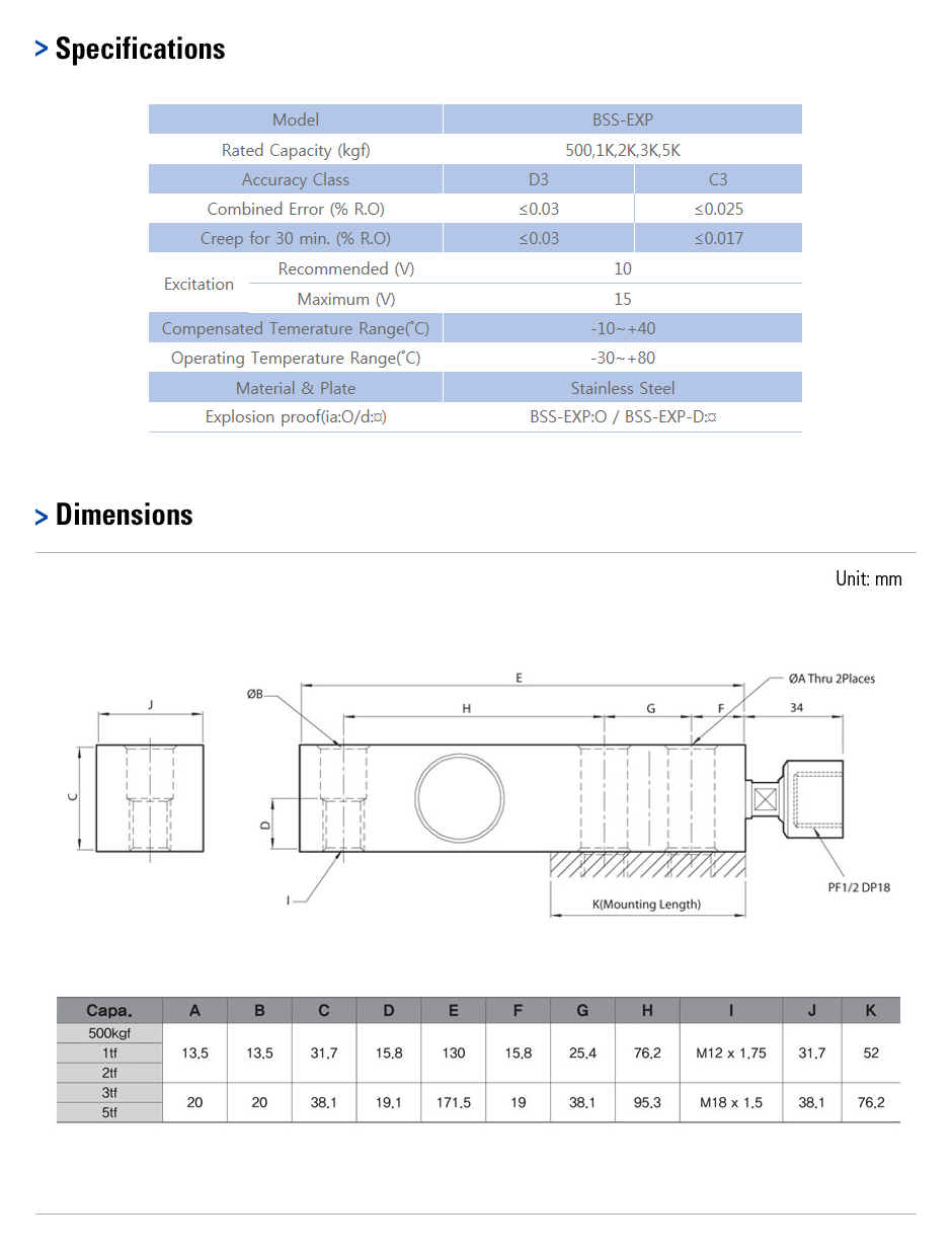 CAS Load Cell - Explosion Proof Type  13