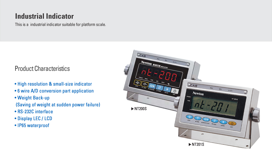 CAS Industrial Indicator NT-200S/201S