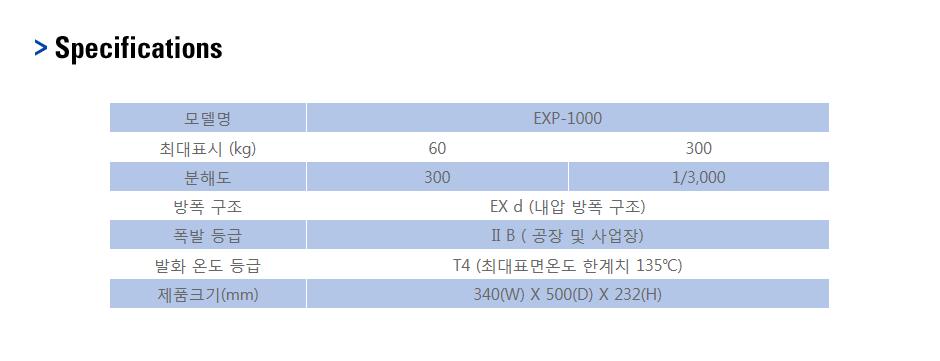 카스 방폭형 스케일 EXP-1000 4