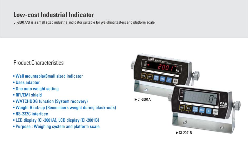 CAS Industrial Indicator CI-2001A/B