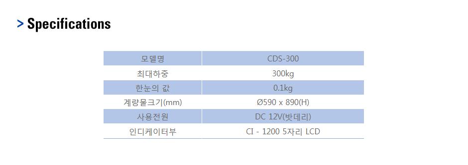 CAS Drum Scale CDS-300 1