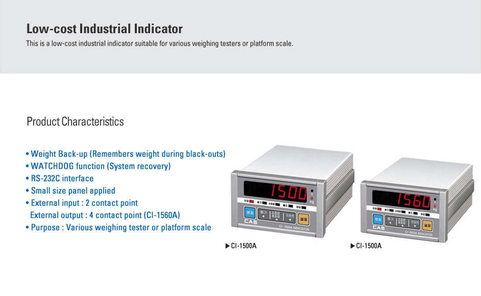 CAS Industrial Indicator CI-1500A/1560A