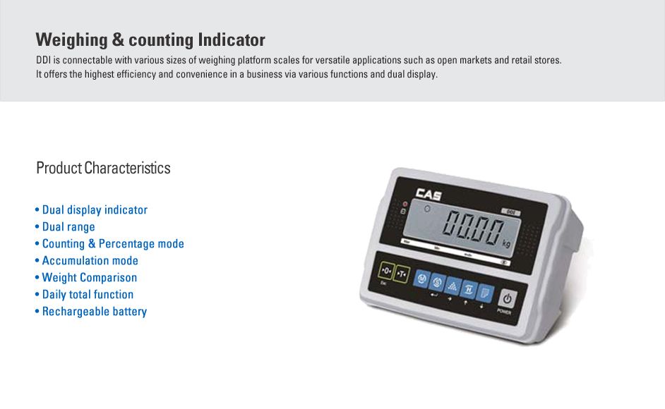 CAS Weighing & Counting Indicator DDI