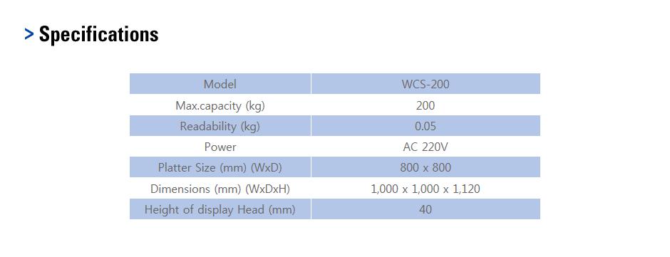 CAS Platform Scale (Wheelchair Scale) WCS-200 1